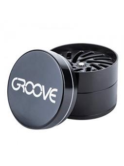 Moledor Aeroespaced de 4 piezas Groove Negro abierto