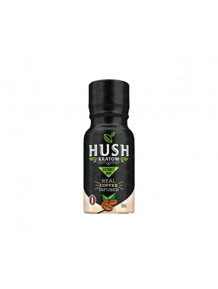 Hush coffee infused kratom liquid shot