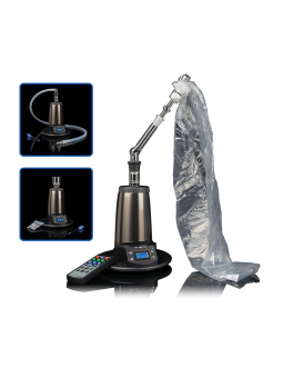 Vaporizer Arizer Extreme Q with vapor bag attached